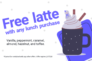 Latte coupon template