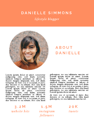 Lifestyle blogger media kit template