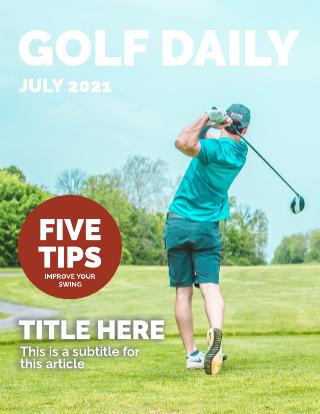 Golf Magazine Cover Template