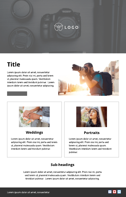 Photography Email Newsletter Template