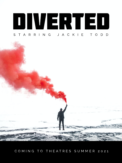 Diverted movie poster template