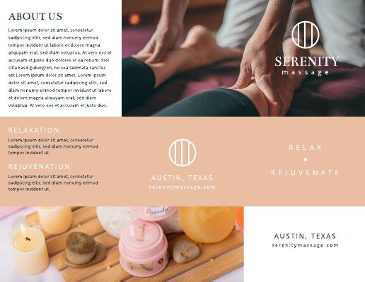 Serenity Massage Brochure Template