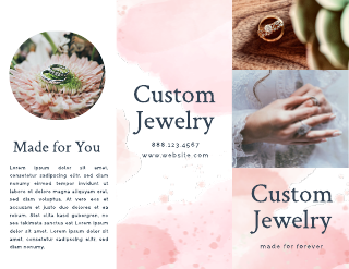 Watercolor Wedding Ring Brochure Template
