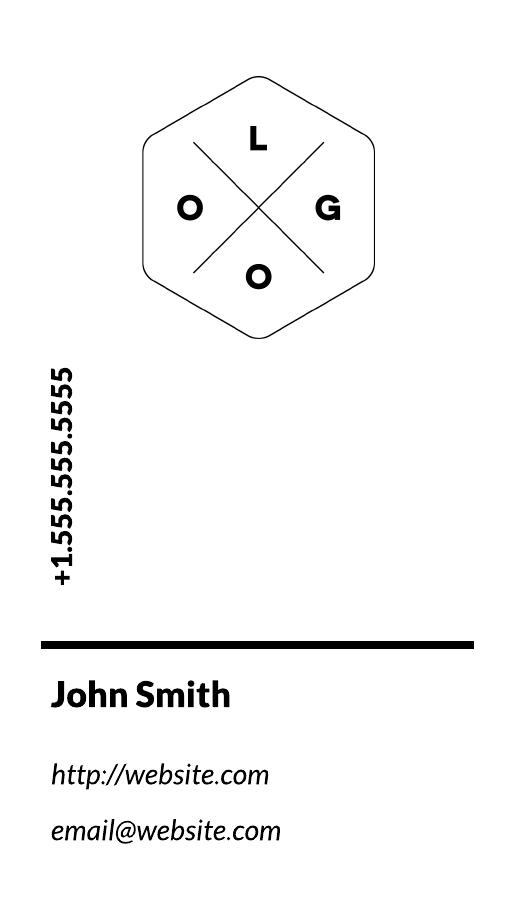 monochrome business card sample