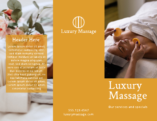 Bright Yellow Massage Brochure Template