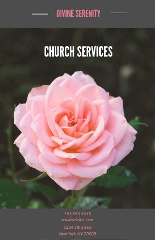 Serenity Church Program Template