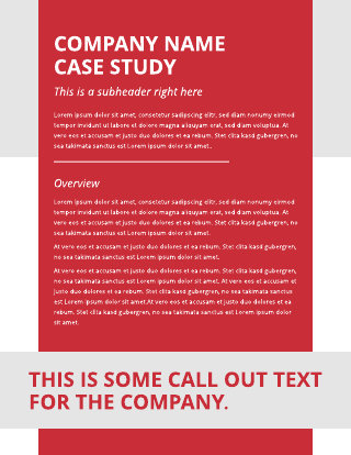 Red and Green Case Study Template