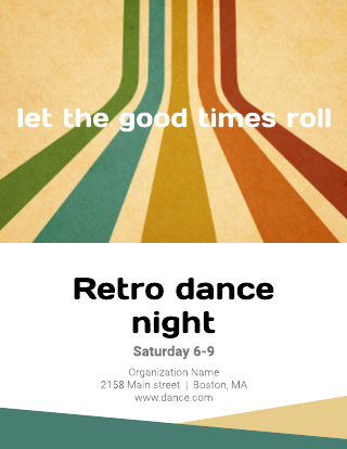 Retro Dance Night Flyer Template