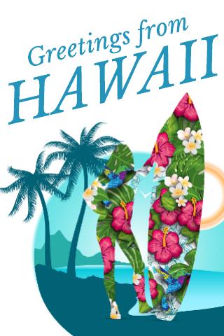 Hawaii Travel Postcard Template
