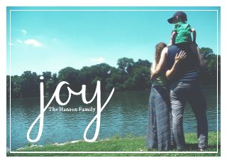 Joy Happy Holiday's Card (7x5)