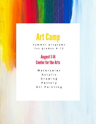Art Camp Flyer Template