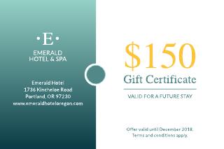 Seaside Hotel Gift Certificate Template