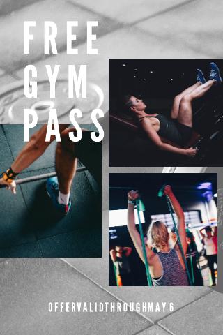 Gym pass coupon template