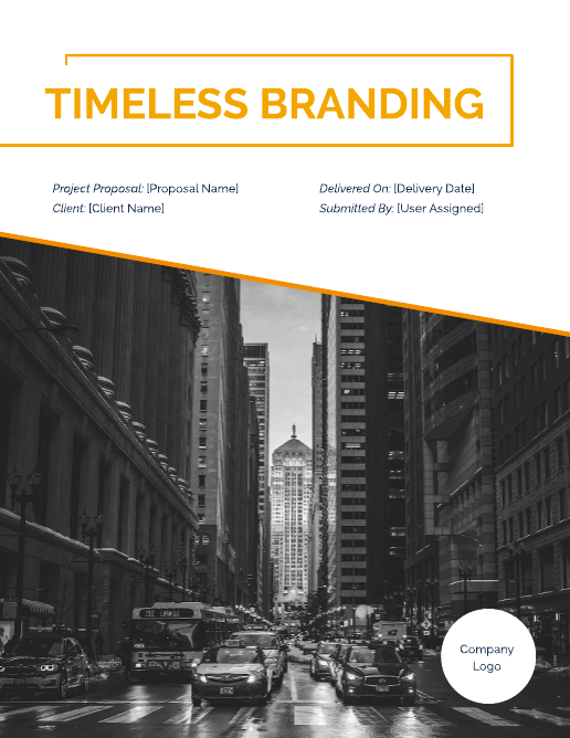 Branding Project Proposal Template