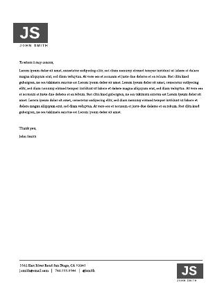 Personal Letterhead Template #2