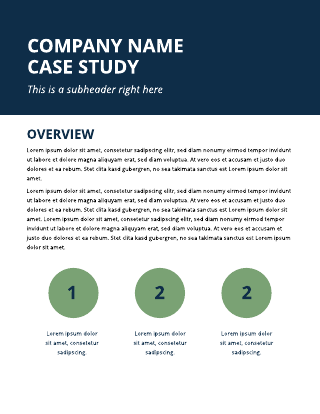 Blue and Green Case Study Template