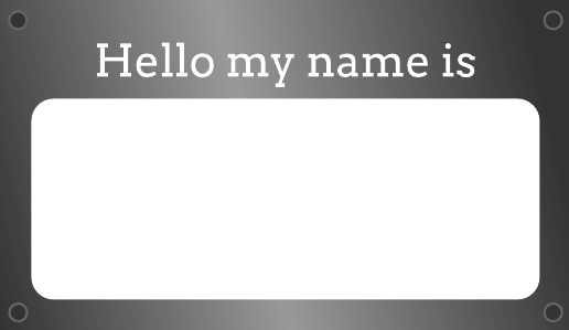 Metal Plate Name Tag Template