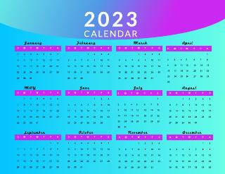 Flower monthly calendar template