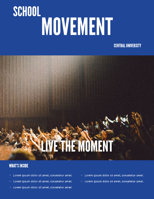 Blue University School Magazine Template