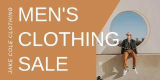 Men's clothing Twitter post template