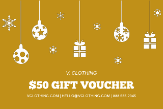 Gold ornament gift certificate template