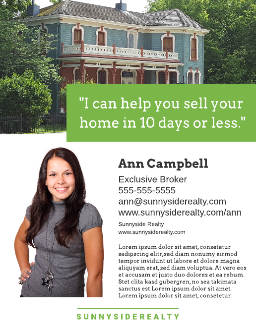 Craftsman Real Estate Flyer Template