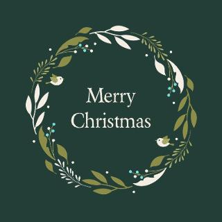 Christmas Wreath Instagram Post Template