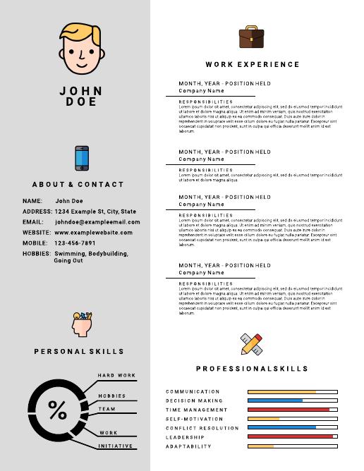 Icon Infographic Resume