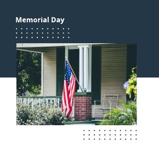 Memorial Day Facebook Post Template
