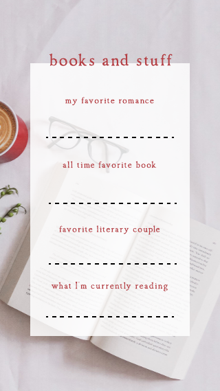Get To Know Me Books Instagram Story Template