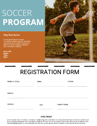 Sports Program Registration Flyer Template