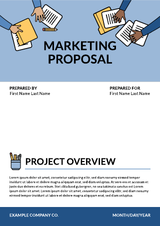 Blue Icons Marketing Proposal Template