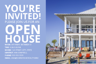 Waterfront Open House Postcard Template