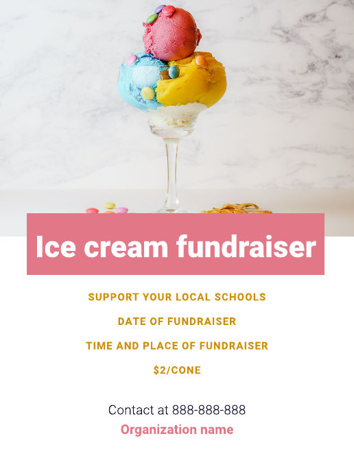 Fundraising flyer template