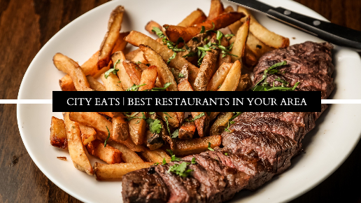 Large Photo Restaurant Guide Youtube Thumbnail Template