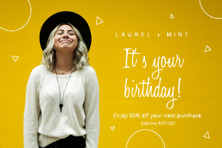 Clothing birthday gift certificate template