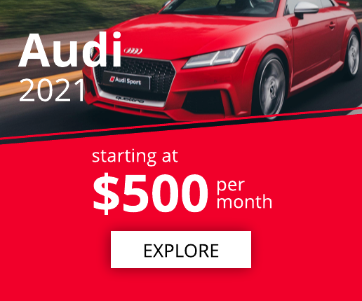 Bright Red Car Banner Ad Template