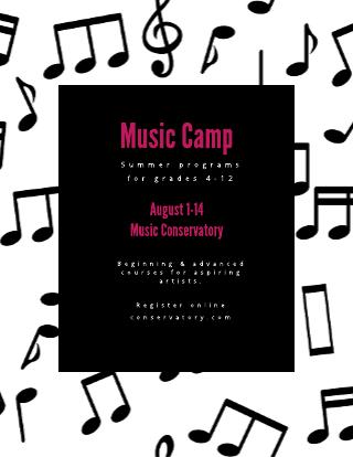 Music Summer Camp Template