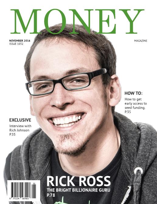 Fake magazine cover template