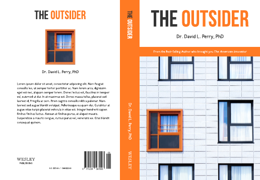 The Outsider Book Cover Template