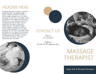 Simple Massage Brochure Template