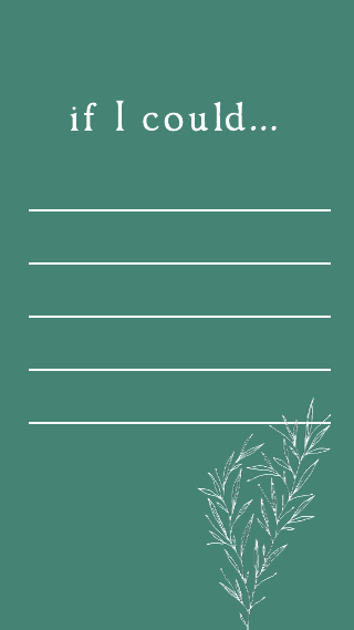 Dark Green Get to Know Me Instagram Story Template