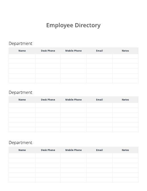 Employee directory template
