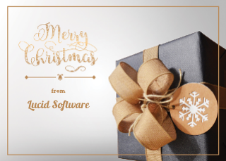 Classic Business Christmas Card Template (7x5)