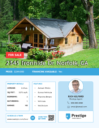 Travel Real Estate Listing Flyer Template