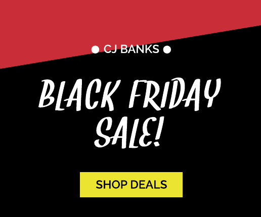 Simple Black and Red Black Friday Banner Ad Template