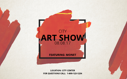 Art Show Event Banner Template Image 01