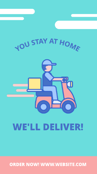 Instagram story delivery service template
