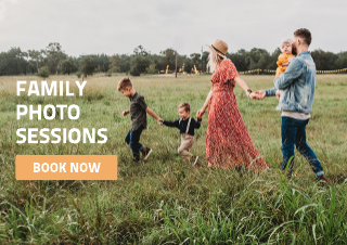 Family photography flyer template