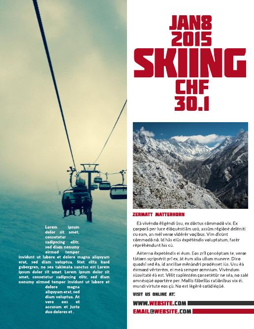 swiss alps business flyer template